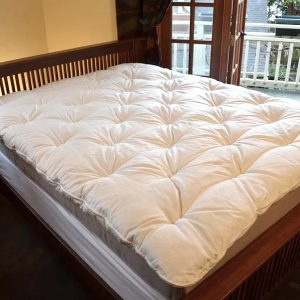 2 inch and 4 inch Organic Wool Mattress Toppers