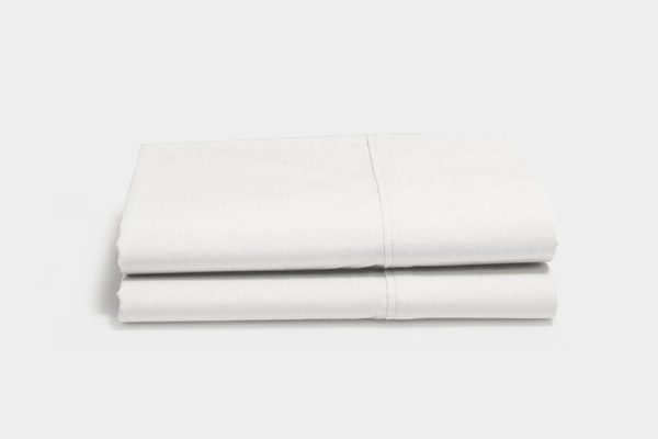 White organic sateen pillow cases