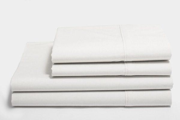 Sateen whitened organic cotton sheets