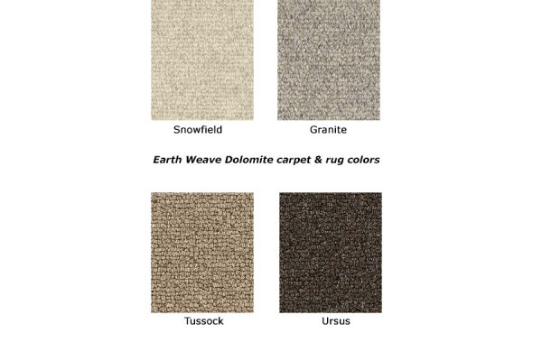 Dolomite natural wool carpet colors