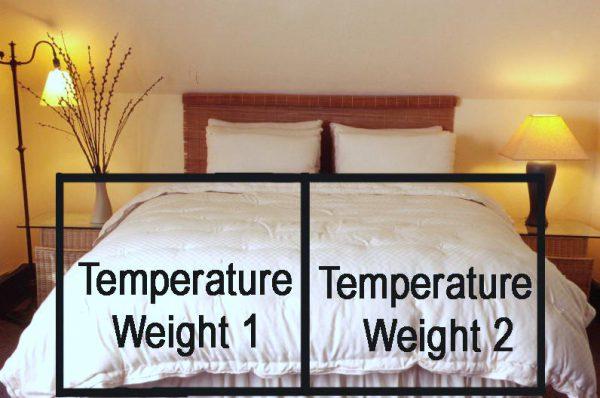 Dual-weight eco wool comforter