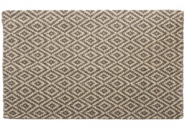 Leicester loom-hooked wool rug