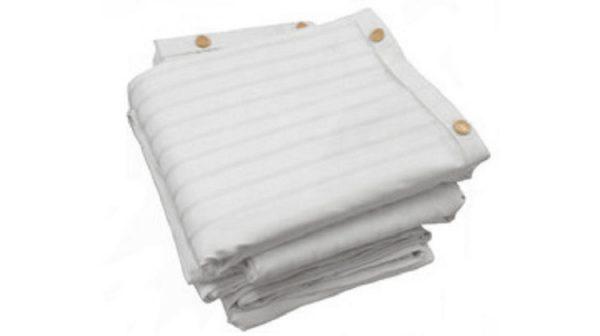 Whitened luxury stripe duvet cover