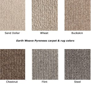 Pyrenees natural wool carpet colors