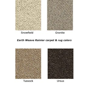 Rainier natural wool carpet colors