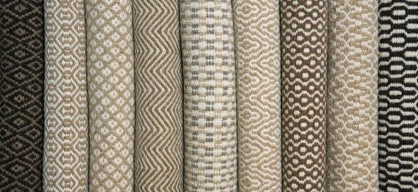 Thick natural wool rugs