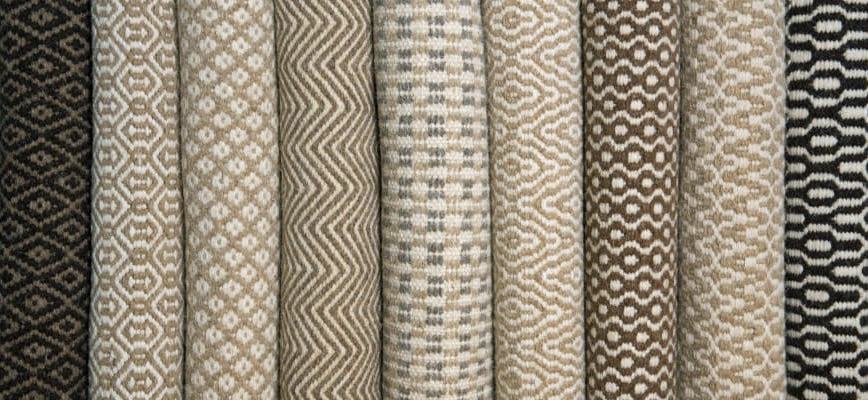 Patterned Thick Woven Wool Rugs