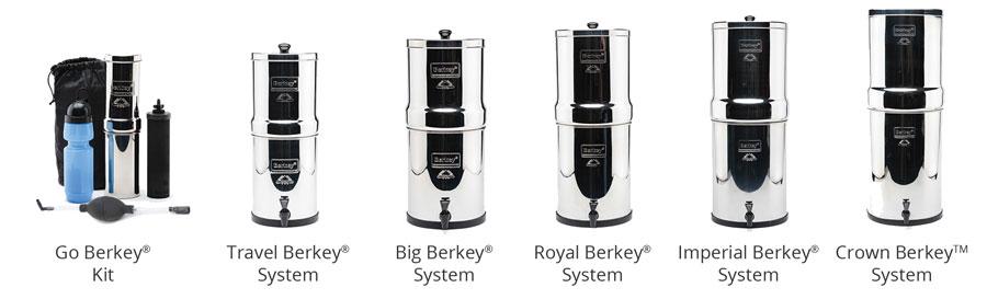 Berkey water purification systems