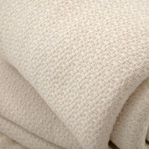 Organic cotton crepe weave blanket