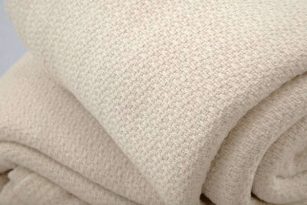 Organic cotton crepe weave blanket