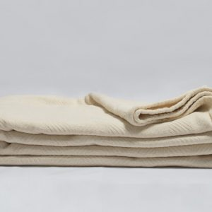 organic cotton herringbone blanket