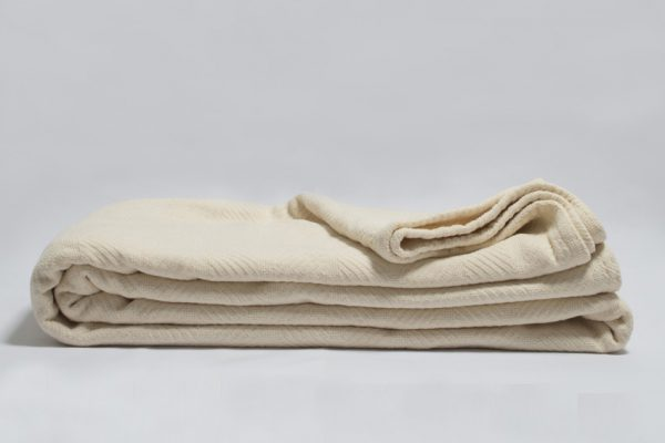 organic cotton herringbone blanket