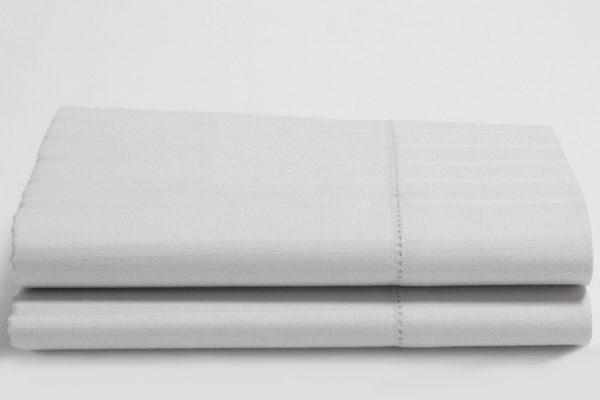 White Luxury Stripe pillow cases