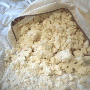 Organic shredded latex pillow