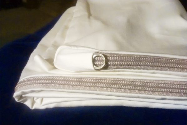 Zippered Organic Cotton Pillow Cover