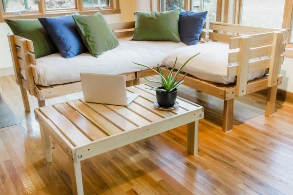 Organic sectional eco-sofa