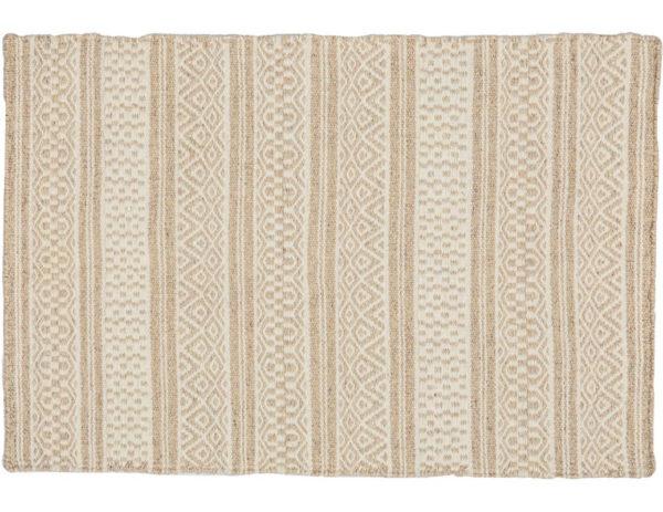 Corriedale flat-weave wool rug