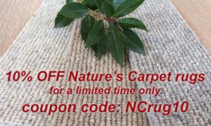 Nature's Carpet rug sale